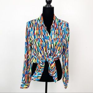 Premise Multicolor retro unique blouse